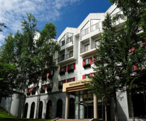 ルスツリゾートホテル&コンベンション  温泉露天風呂から支笏洞爺を望む! 写真